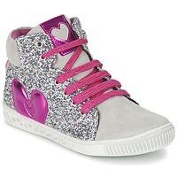 Schoenen Meisjes Hoge sneakers Agatha Ruiz de la Prada BUSOULI Zilver