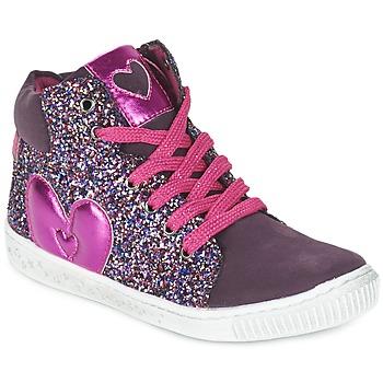 Schoenen Meisjes Hoge sneakers Agatha Ruiz de la Prada BUSOULI Violet