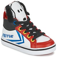 Schoenen Kinderen Hoge sneakers Feiyue DELTA MID PEANUTS Wit / Zwart / Rood