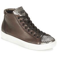 Schoenen Dames Hoge sneakers Tosca Blu ALEXA Bruin / Zilver