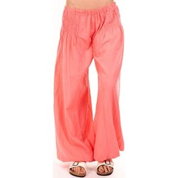 Textiel Dames Losse broeken / Harembroeken By La Vitrine Sarouel Medina corail Oranje