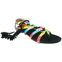 Schoenen Dames Sandalen / Open schoenen Cassis Côte d'Azur Spartiates Brides Multicolor Barbie Noir Zwart