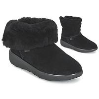 Schoenen Dames Laarzen FitFlop MUKLUK SHORTY 2 BOOTS Zwart