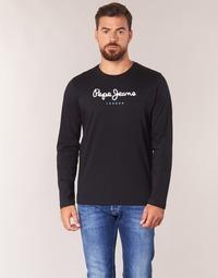 Textiel Heren T-shirts met lange mouwen Pepe jeans EGGO LONG Zwart
