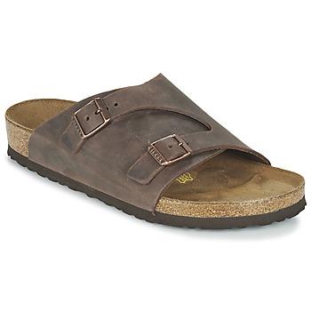 Schoenen Leren slippers Birkenstock ZURICH Bruin