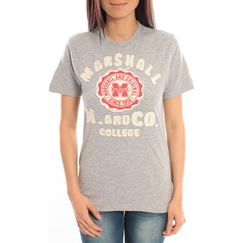 Textiel Dames T-shirts korte mouwen Sweet Company T-shirt Marshall Original M and Co 2346 Gris Grijs