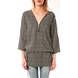 Textiel Dames Tunieken De Fil En Aiguille Robe Noémie & Co E1485-43 Noire à pois Zwart