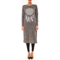 Textiel Dames Lange jurken By La Vitrine Robe Plume gris Grijs
