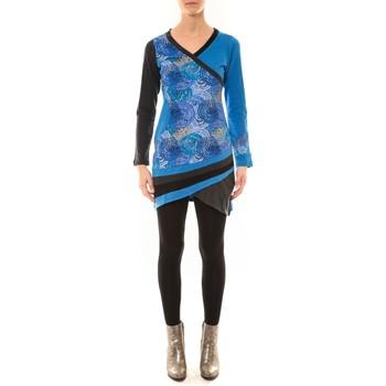 Textiel Dames T-shirts met lange mouwen Bamboo's Fashion Robe BW640 bleu Blauw