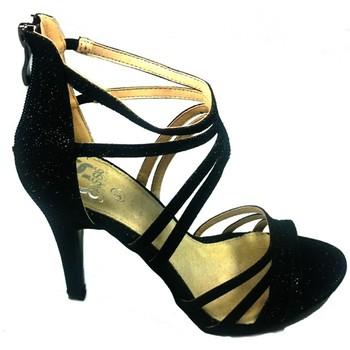 Schoenen Dames Sandalen / Open schoenen Cassis Côte d'Azur Sandales Multibrides ouvert Noir Oria Zwart