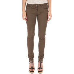 Textiel Dames Skinny jeans LPB Woman Les Petites Bombes Pantalon Slim Strech Kaki S161201 Groen