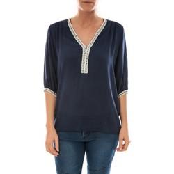 Textiel Dames Tops / Blousjes Barcelona Moda Top Leny Marine Blauw