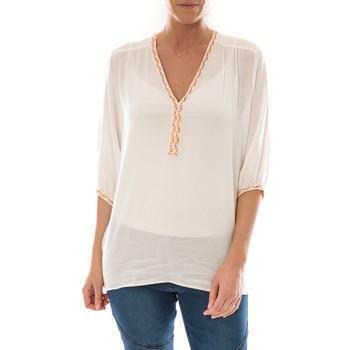Textiel Dames Tops / Blousjes Barcelona Moda Top Leny Blanc Wit