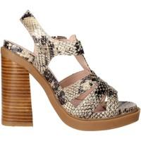 Schoenen Dames Sandalen / Open schoenen Bronx 84436-B Brown Taupe
