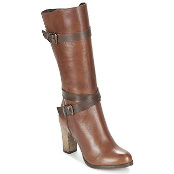 Schoenen Dames Hoge laarzen Lola Espeleta REINETTE Cognac