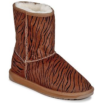 Schoenen Dames Laarzen EMU STINGER FUR LO Bruin