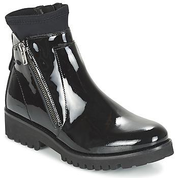 Schoenen Dames Laarzen Regard REJABI Zwart / Lak