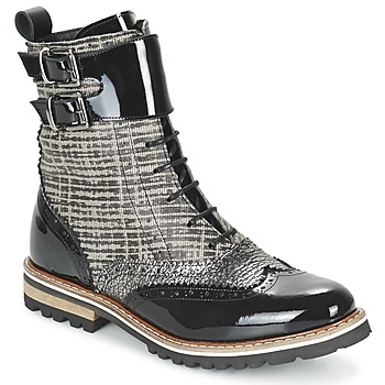 Schoenen Dames Laarzen Regard RIFADO Grijs / Zwart / Lak