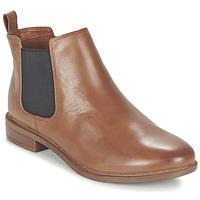 Schoenen Dames Laarzen Clarks TAYLOR SHINE Bruin