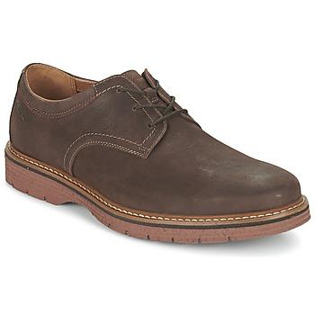 Schoenen Heren Derby Clarks NEWKIRK PLAIN Bruin