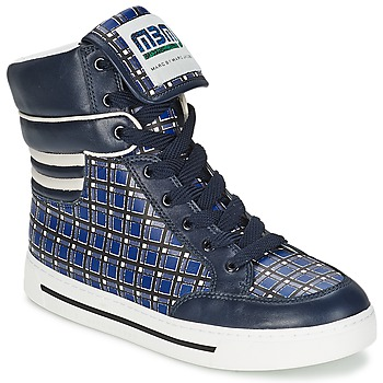 Schoenen Dames Hoge sneakers Marc by Marc Jacobs CUTE KIDS MINI TOTO PLAID Blauw / Multi