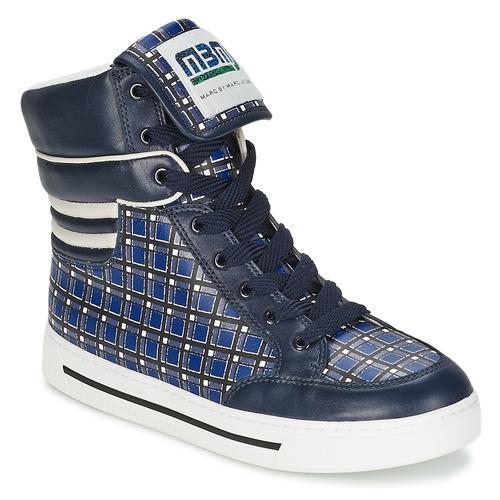 Schoenen Dames Hoge sneakers Marc by Marc Jacobs CUTE KIDS MINI TOTO PLAID Blauw / Multicolour