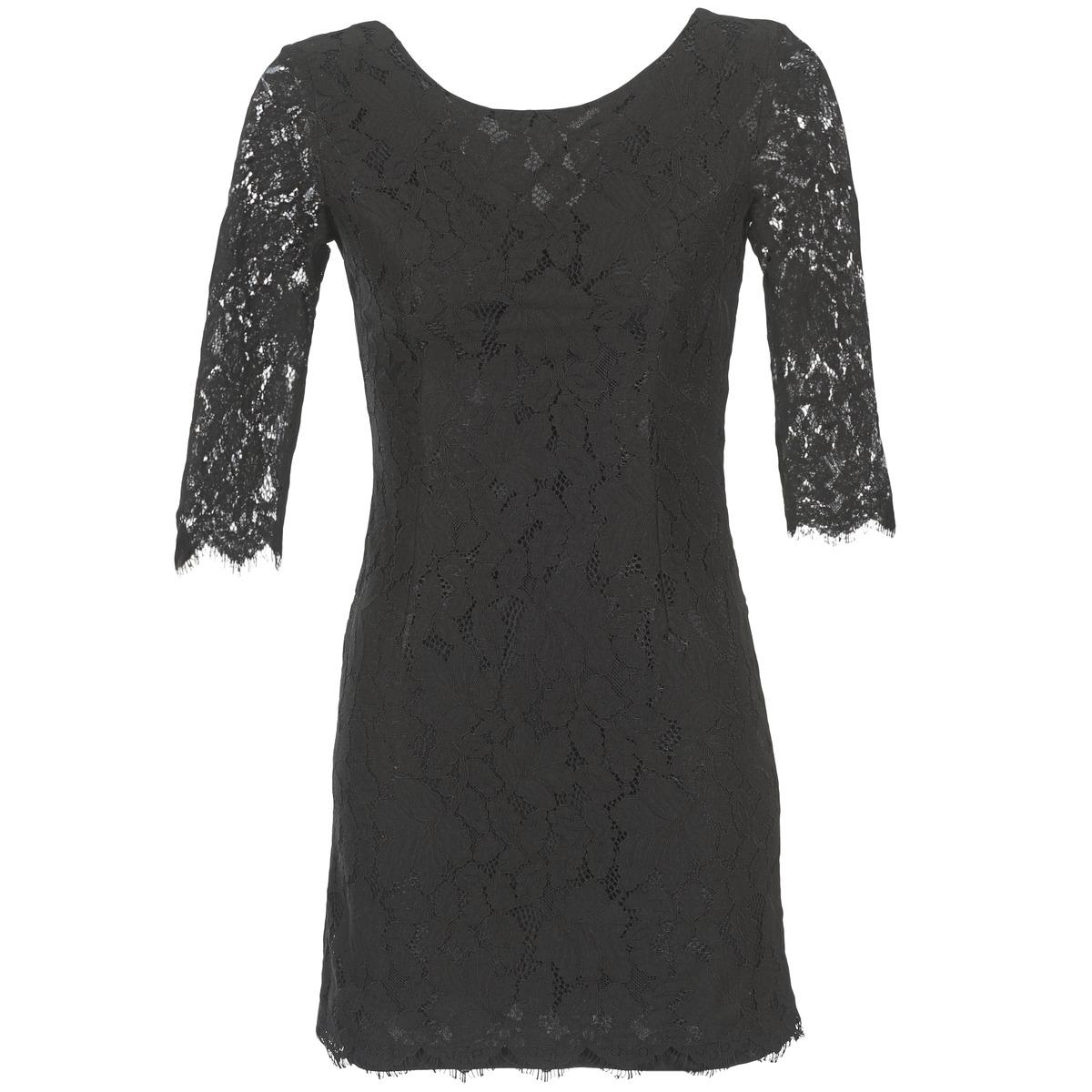 Betty London korte jurk flizine zwart