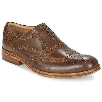 Schoenen Heren Derby Hudson KEATING CALF Bruin