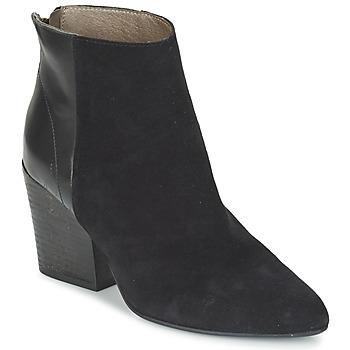 Schoenen Dames Enkellaarzen Hudson MELI CALF Zwart