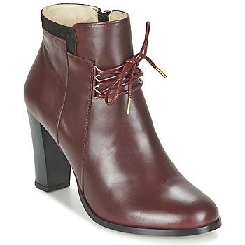 Schoenen Dames Low boots M. Moustache EMMA Bordeau / Zwart
