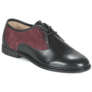 Schoenen Dames Derby M. Moustache EUGENIE Zwart / Bordeau