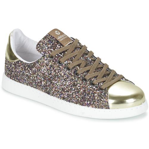 Schoenen Dames Lage sneakers Victoria DEPORTIVO BASKET GLITTER Multi