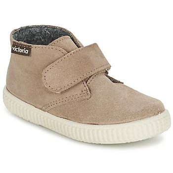 Schoenen Kinderen Hoge sneakers Victoria SAFARI SERRAJE VELCRO Taupe
