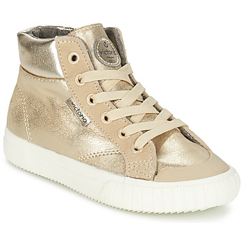 Schoenen Meisjes Hoge sneakers Victoria BOTA METALIZADA PU Goud