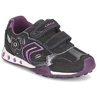 Schoenen Meisjes Lage sneakers Geox NEW JOCKER GIRL Zwart / Roze