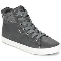 Schoenen Meisjes Hoge sneakers Geox KIWI GIRL Grijs