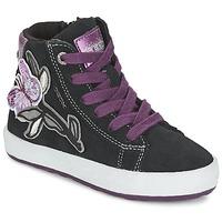 Schoenen Meisjes Hoge sneakers Geox WITTY Zwart