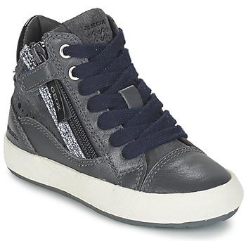 Schoenen Meisjes Hoge sneakers Geox WITTY Grijs