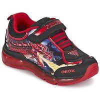 Schoenen Jongens Lage sneakers Geox ANDROID BOY Zwart / Rood