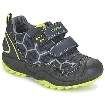 Schoenen Jongens Lage sneakers Geox NEW SAVAGE BOY Blauw / Geel
