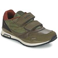 Schoenen Jongens Lage sneakers Geox PAVEL Groen / OranJe