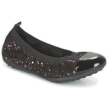 Schoenen Meisjes Ballerina's Geox PIUMA BALLERINE Zwart