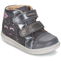Schoenen Meisjes Hoge sneakers Geox B FLICK GIRL Grijs
