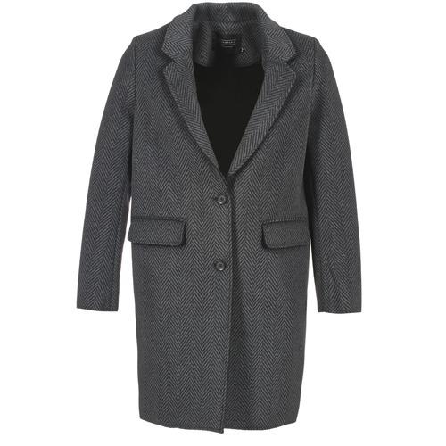 Textiel Dames Mantel jassen Eleven Paris TABLEAUBIS Grijs / Zwart