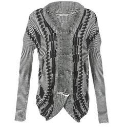 Textiel Dames Vesten / Cardigans Teddy Smith GRANBY Ecru / Zwart