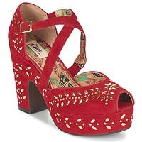 Schoenen Dames Sandalen / Open schoenen Miss L'Fire SELINA Rood