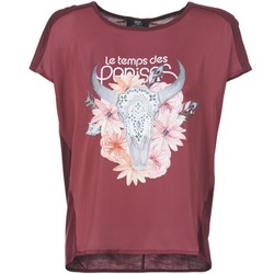 Textiel Dames T-shirts korte mouwen Le Temps des Cerises CRANEFLO Bordeau