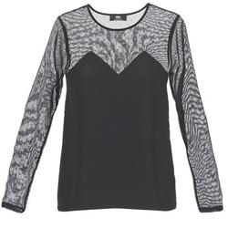 Textiel Dames T-shirts korte mouwen Le Temps des Cerises ALANNAH Zwart