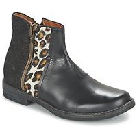 Schoenen Meisjes Laarzen Shwik TIJUANA WILD Zwart / Luipaard