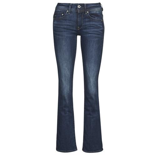 Textiel Dames Bootcut jeans G-Star Raw MIDGE SADDLE MID BOOTLEG Neutro / Stretch / Denim / Vintage